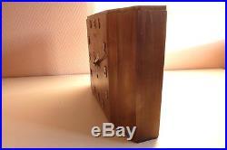 Pendule bois de marque Hermès Année 1940