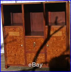 Petit meuble art déco bois et marqueterie