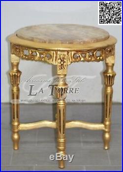 Petite Table Ronde Splash À Partir Salon Guéridon En Bois Feuille Or Étage