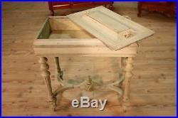 Petite table antique bois verni meuble de salon pot fleur antiquités 800