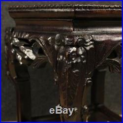 Petite table chinoise meuble salon en bois de chevet étage marbre style ancien