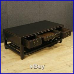 Petite table faible coût de salon meuble chinoise bois verni noir style ancien