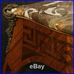 Petite table français salon de chevet bois marqueté style ancien Luigi XV