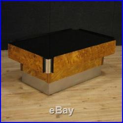Petite table italien design meuble table bois métal miroir moderne salon