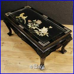 Petite table verni chinoiserie meuble faible coût de salon en bois style ancien