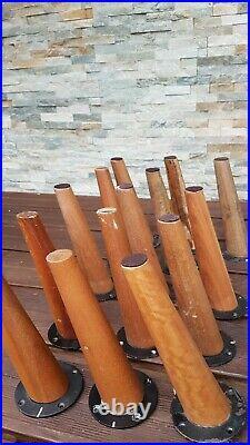 Pieds compas en bois 22.20 cm a visser
