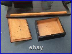 Plateau Et Boîtes art déco 1930, bois, moderniste