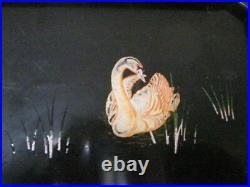 Plateau service bois laqué Asie Japon fait main vintage art déco XXe PN France