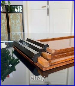 Plateaux de service Art Déco Moderniste Bois Thuya Gigognes Bar Décoration