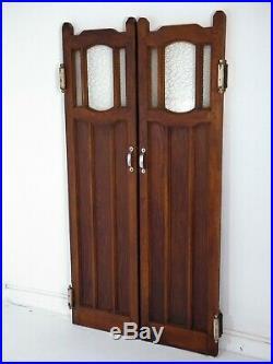 Porte de brasserie bois et verre 1930
