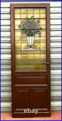 Porte de passage a vitraux Art Déco XX siècle