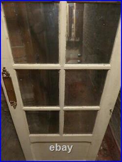 Portes Anciennes Vitrees- (2 Art Deco) + 1 Porte Avec Vitres Biseautees