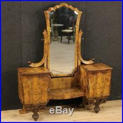 Psyché bois noyer meuble miroir commode style ancien Art Déco 900 XX antiquité