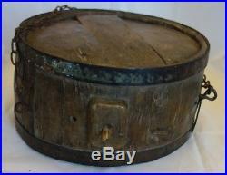 RARE Gros tonneau à alcool XIX en bois / Déco Art populaire / Vin oenologie
