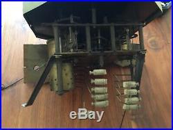 RARE MF carillon Manufacture française d armes, 10 tiges 10 marteaux à rouleaux