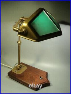 Rare Lampe Pirouett sur Socle Bois Art Déco