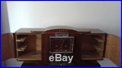 Rare Pendule Horloge Bar Art Deco Signee Ideal France Lampe French Clock Lamp
