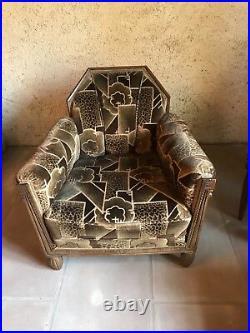 Rare! Salon Art Deco complet, matériau entièrement dorigine