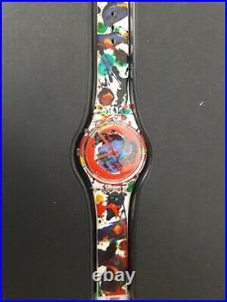 SWATCH, Gz123 SAM FRANCIS box era sottsass gent haring watch 1992