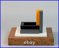 Sculpture En Bois Polychrome Abstraction Neoplasticisme Signee Numerotee (5)
