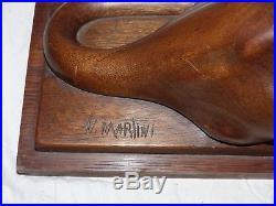 Sculpture bois art déco par N-MARTINI panthère