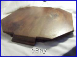 Service THE et CAFE art déco ROUX MARQUIAND métal argenté bois PLATEAU tout BOIS
