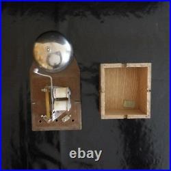 Sonnette électrique bois métal fait main Art Déco Design XX 1950 PN France N3207