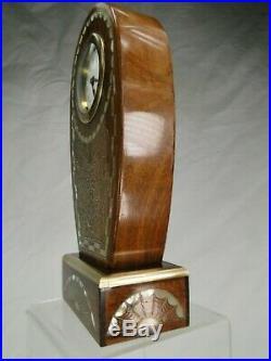 Splendide Pendule Art Deco Fin Travail Marqueterie 1925 Clock Espr. Iribe Jallot