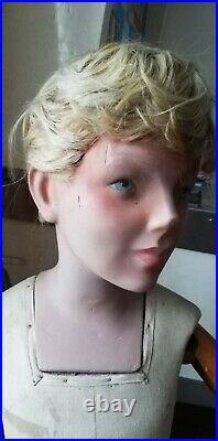 Superbe Mannequin enfant marque SIEGEL années 30 complet entièrement articulé
