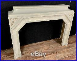 Superbe cheminée époque Art Deco en bois laqué