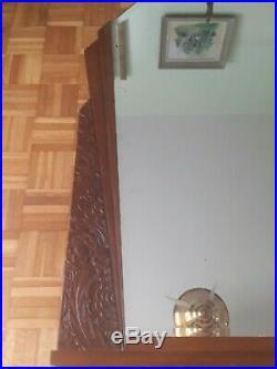 Superbe grand miroir biseauté Annee 30-40 Art Déco