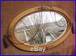 Superbe grand miroir ovale oblong de Style Art déco