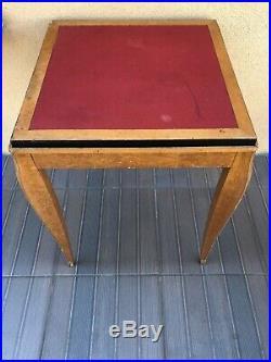 Table A Jeu Dans Le Gout De Leleu Marqueterie Bois 1935 Art Deco L7 L7