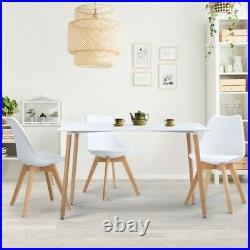 Table à manger scandinave SARA 120 CM blanche