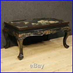 Table basse laquée chinoiserie meuble salon style ancien bois 900