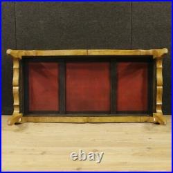 Table basse meuble de salon style ancien bois laqué chinoiserie peint