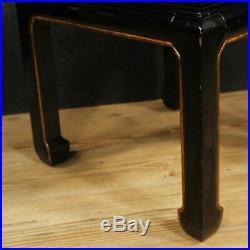 Table basse meuble de salon style ancien chinoiserie bois laqué 900