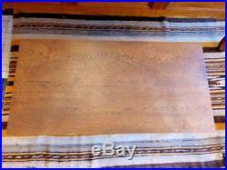 Table basse pied fer forgé plateau bois chêne époque art déco