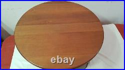 Table basse ronde style art deco chêne blond massif 6 pieds