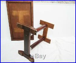 Table bistrot. Bois, aluminium, formica 101 x 60 x H 75 cm vintage 1950s