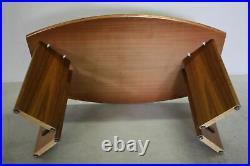 Table bureau secrétaire moderne meuble bureau en bois teck moderne années 80