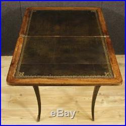 Table de jeu marqueté petite bois meuble salon bureau secrétaire style ancien