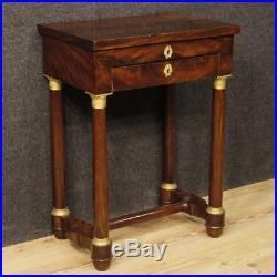 Table de travail meuble salon français bois style ancien ...
