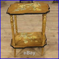 Table meuble chevet salon bois laqué peint style ancien 900