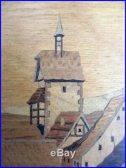 Tableau Marqueterie De Bois Eleve Spindler Alsace Aufderbruck Kaysersberg Signe