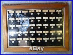 Tableau ancien de réception dhôtel, tableau d'appel de chambres années 30