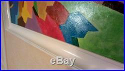 Tableau paysage abstrait n1 cadre bois peinture déco harmonie Art contemporain