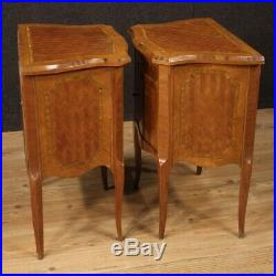 Tables de chevet meubles paire italiens bois incrusté style ancien chambre 900