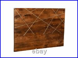 Tête de lit art déco MANGAIA 160 cm Bois de manguier Naturel et doré