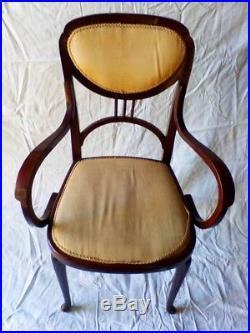 Thonet Fauteuil ep art nouveau bois courbé